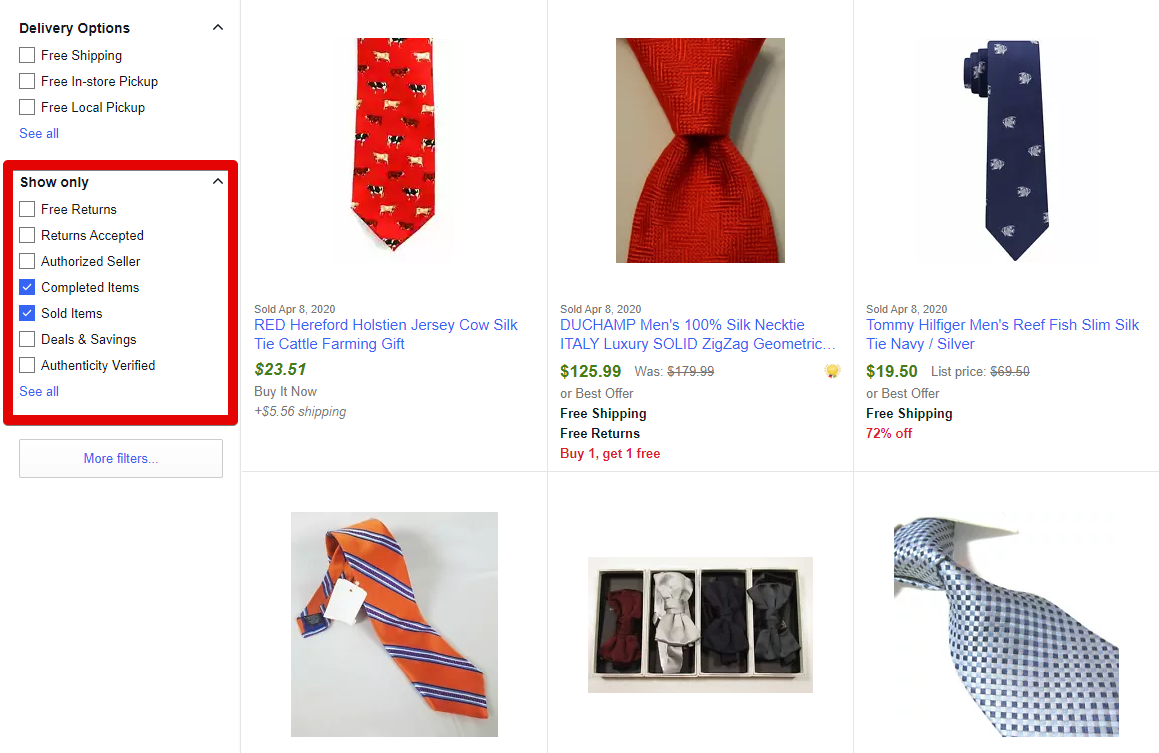 Selling on eBay for Beginners: Where to Find Sold Listings