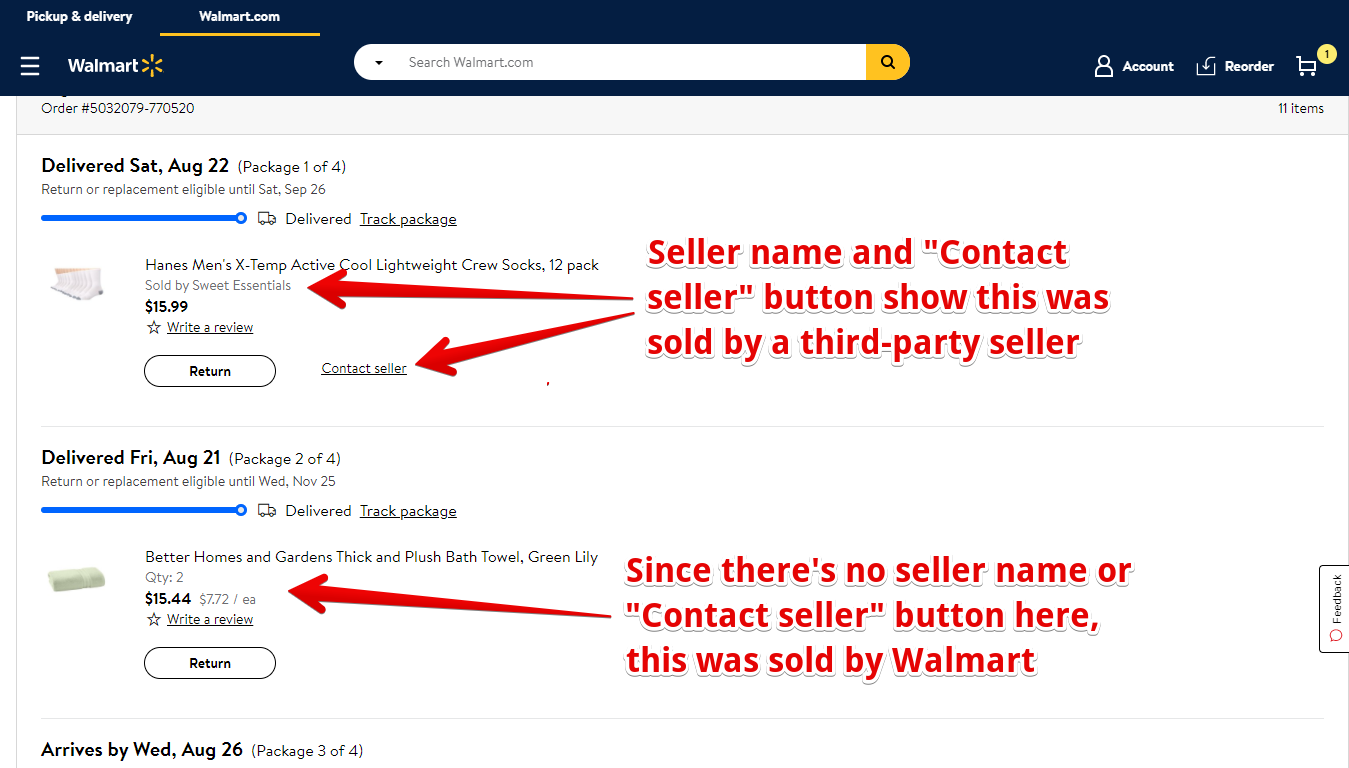 How to Tell Whether Something is Sold by Walmart or a Third-Party Seller