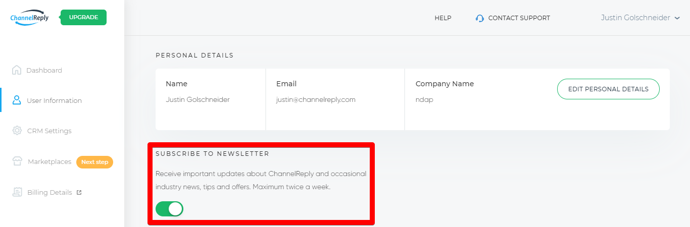 Subscribe to ChannelReply Newsletter