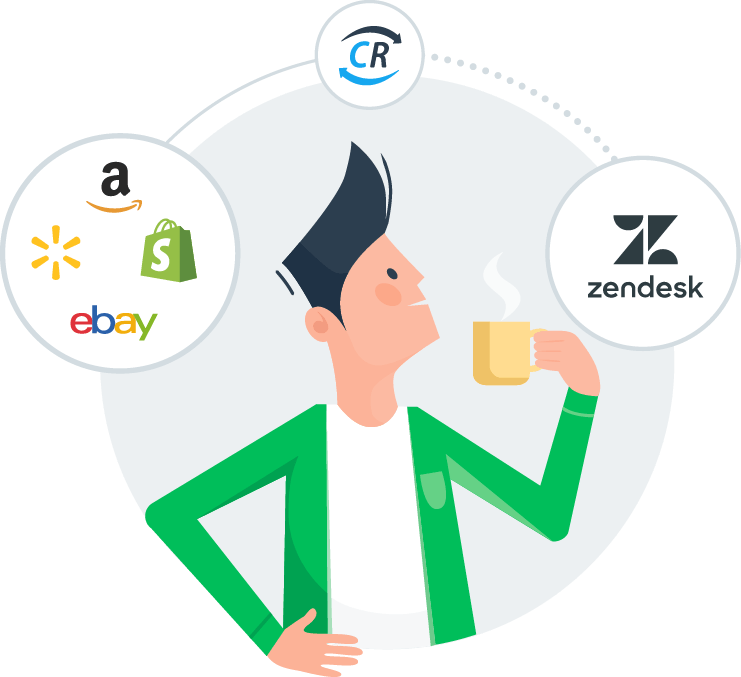 Shopify, Walmart, eBay and Amazon Messaging in Zendesk with ChannelReply