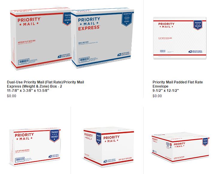 USPS Free Boxes