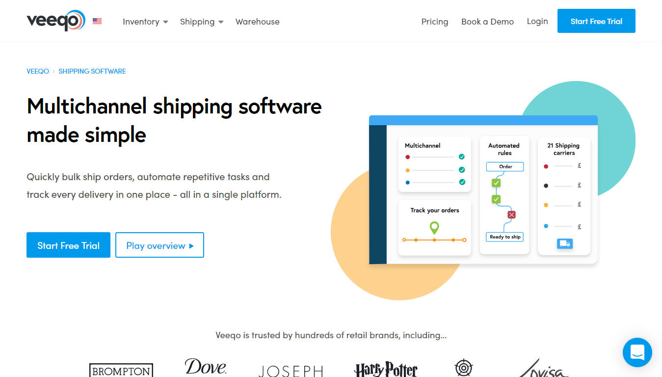 Veeqo Homepage
