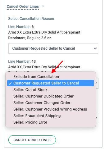 Walmart Cancellation Options in Zendesk