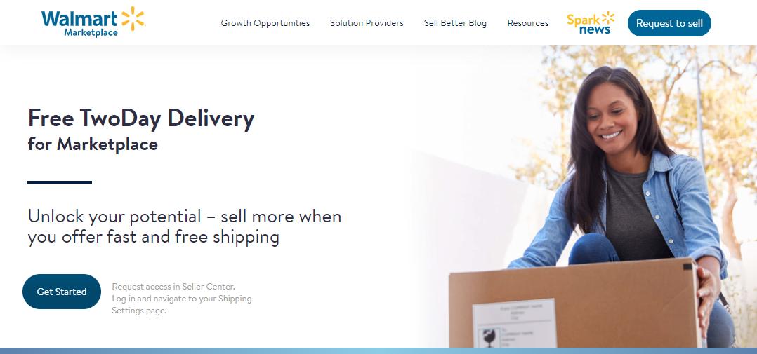 Walmart Free TwoDay Delivery webpage