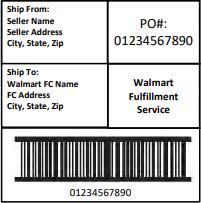 Walmart Sample Shipping Label