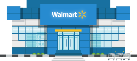 Walmart Storefront Graphic