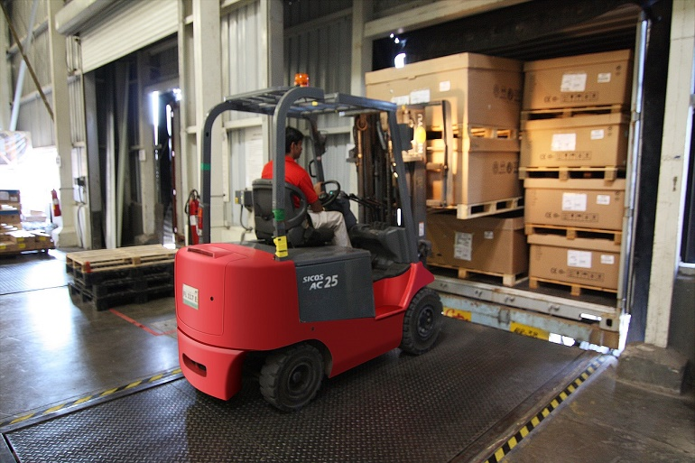 Warehouse Worker with Forklift