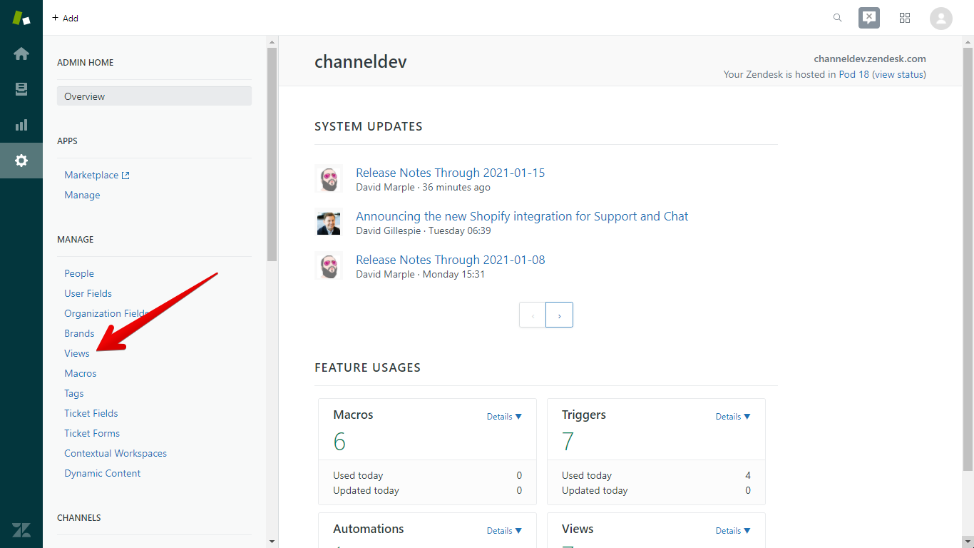 Where to Find Views in Zendesk