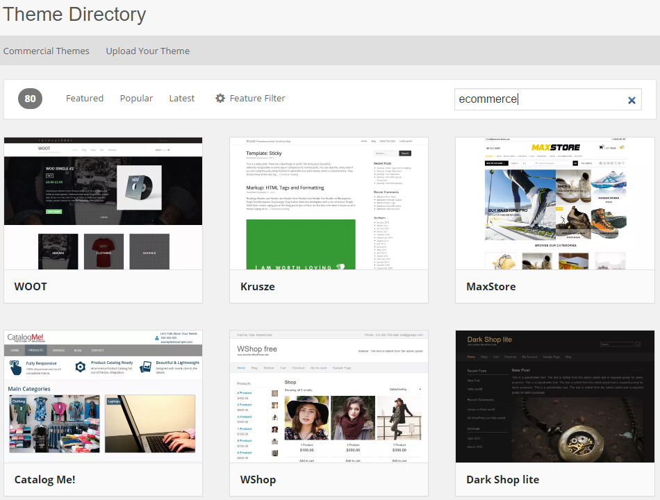 Create an Online Store with WordPress