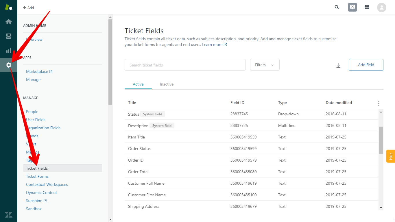 Zendesk Ticket Fields