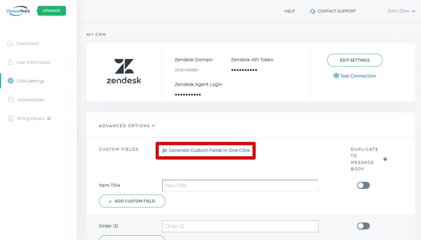 Generate Custom Fields in One Click