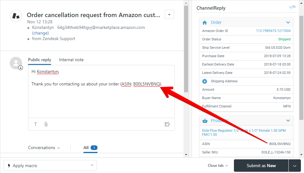 ChannelReply Custom Field in Zendesk Macro
