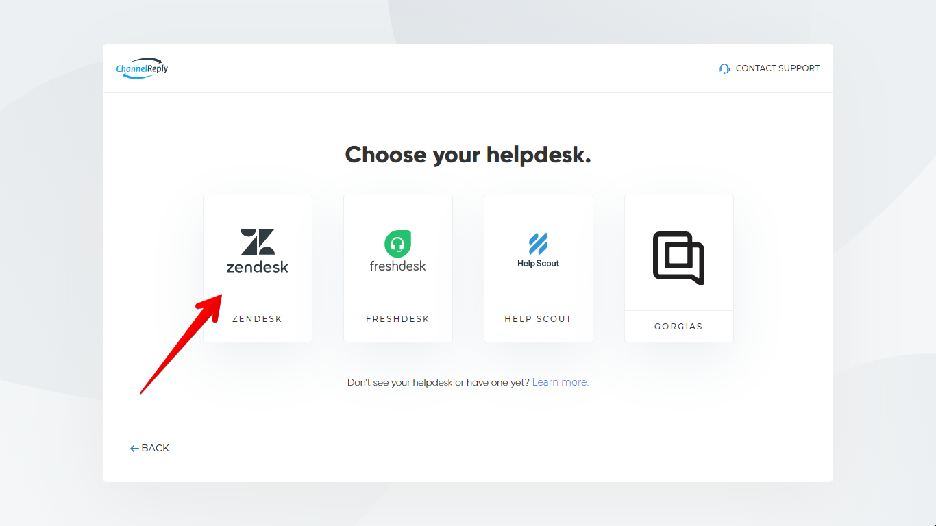 Select Zendesk in ChannelReply