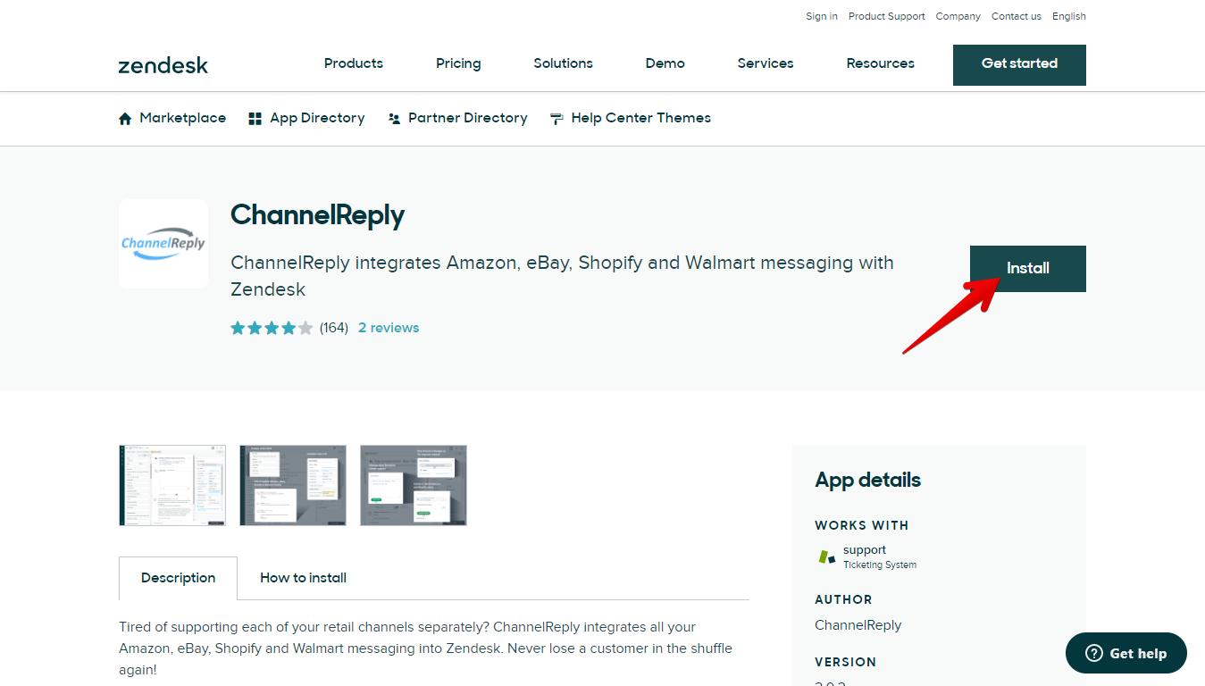 Install the ChannelReply Zendesk App
