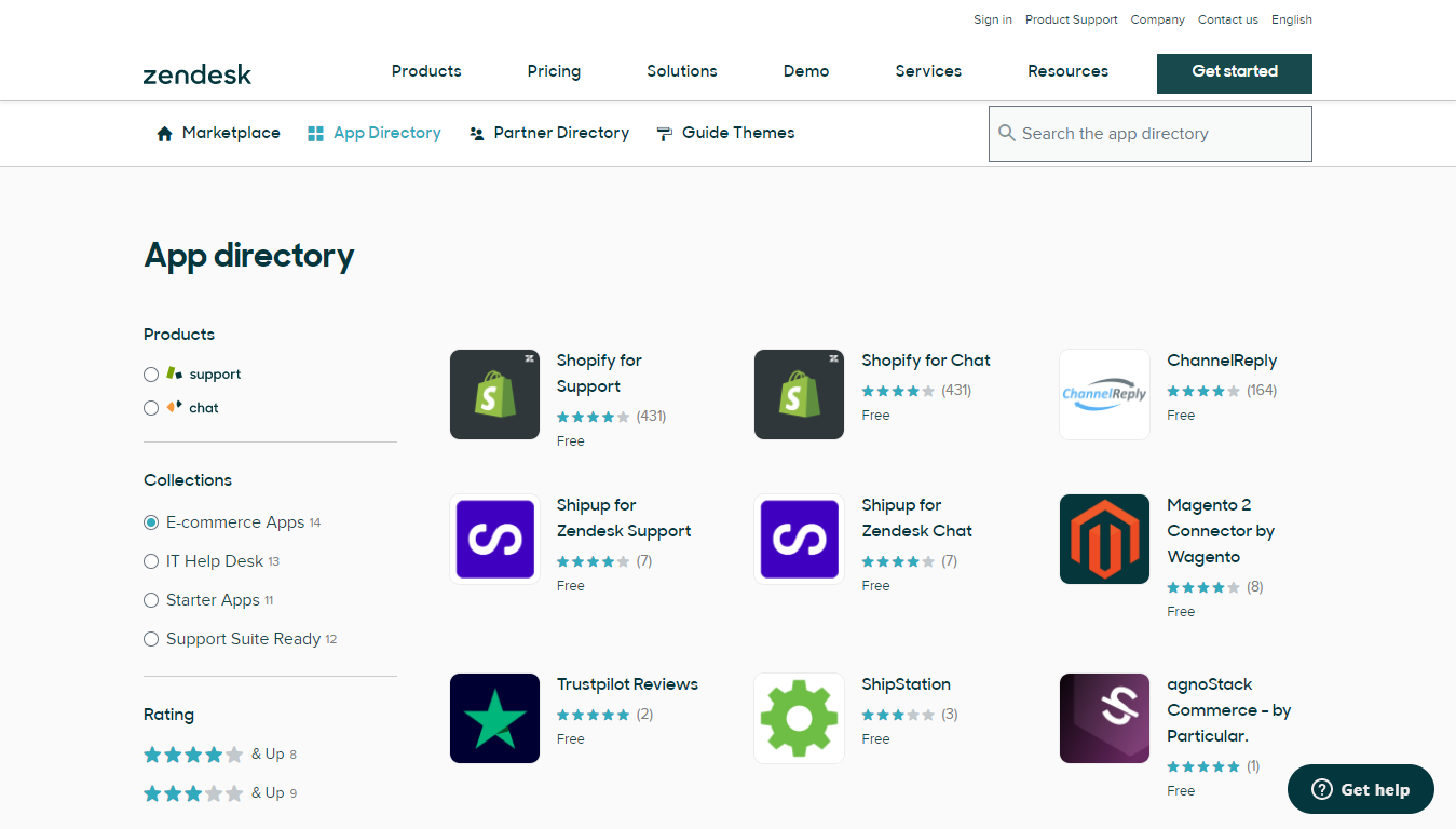 Ecommerce Apps in the Zendesk App Marketplace