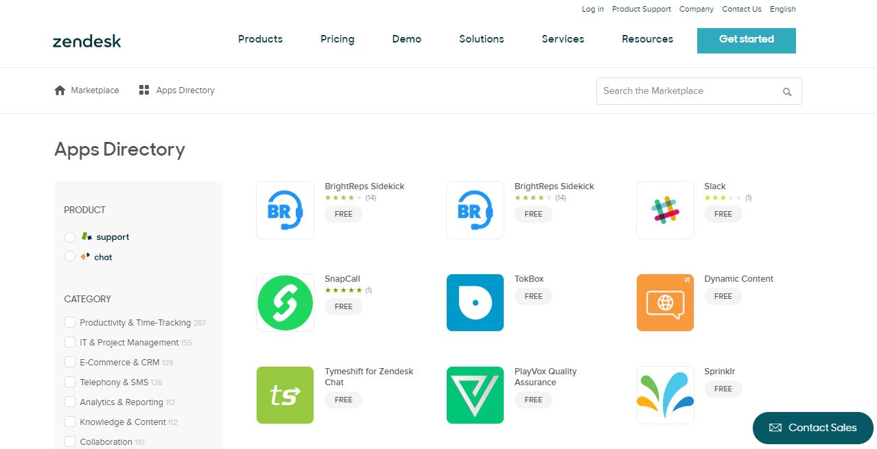 Zendesk App Directory