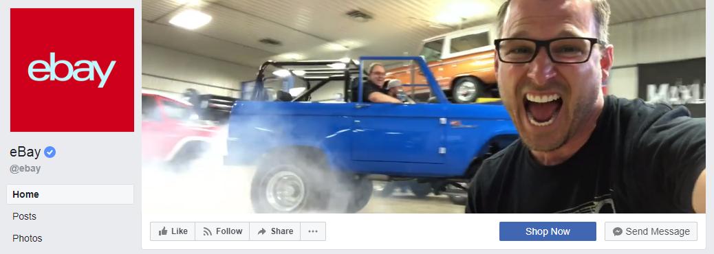 eBay's Facebook Account