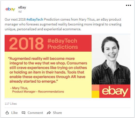 eBay AR Prediction by Mary Titus on LinkedIn
