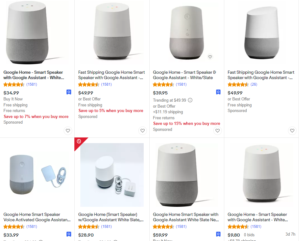 eBay Ranking Moderately Priced Listings Highly