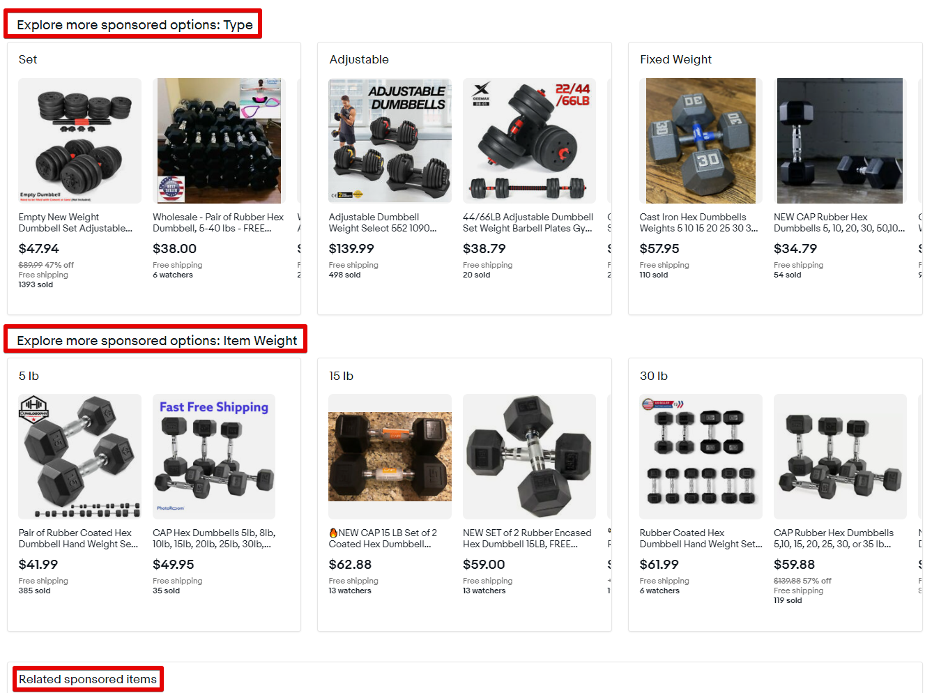 Even More Sponsored Listings on an Item Page
