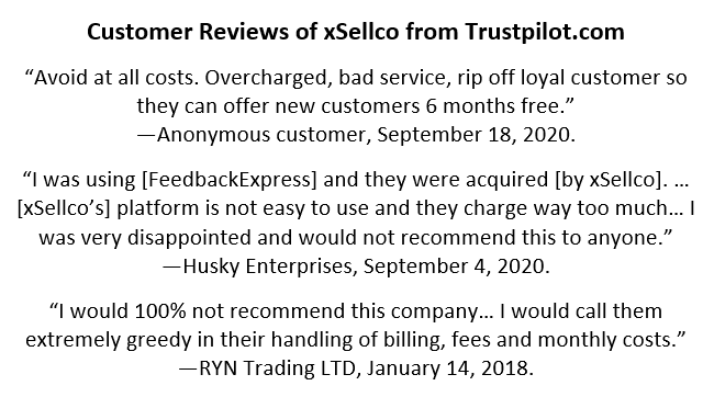 Reviews of xSellco from Trustpilot