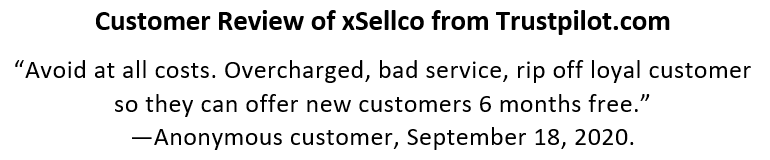 xSellco Customer Feedback on Price Increases