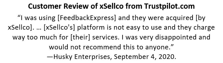 xSellco Feedback Review by Former FeedbackExpress Customer