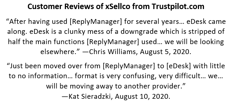 eDesk Reviews by Former ReplyManager Customers